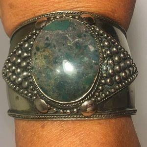Jewelry - Vintage Boho India Wide Cuff Bracelet